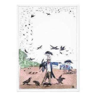 Scarecrow on a Farm Custom Invitation