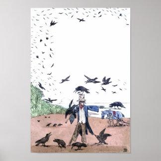 Scarecrow on a Farm Print