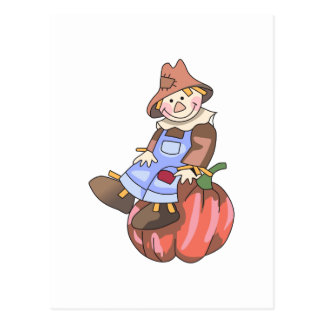 SCARECROW ON PUMPKIN POST CARDS