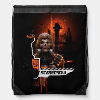 Scarecrow Orange Graphic Drawstring Bag