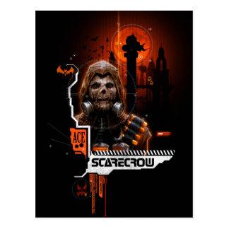 Scarecrow Orange Graphic Postcard