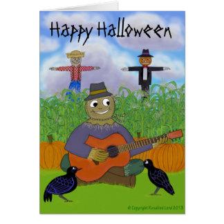 Scarecrow Playing Guitar Card