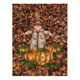 SCARECROW & PUMPKIN PATCH by SHARON SHARPE Post Card