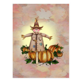 SCARECROW PUMPKIN PATCH by SHARON SHARPE Post Card