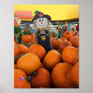 Scarecrow & Pumpkins #2 Poster