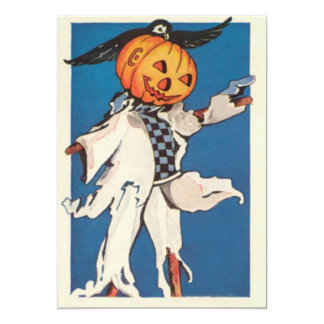 Scarecrow Raven Crow Jack O Lantern Pumpkin Invitations