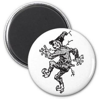 Scarecrow Striding 6 Cm Round Magnet