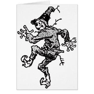 Scarecrow Striding Card