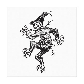 Scarecrow Striding Gallery Wrapped Canvas