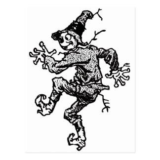 Scarecrow Striding Postcard
