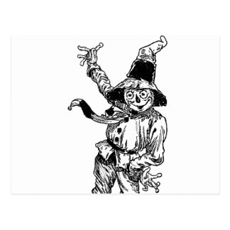 Scarecrow Waving Postcard