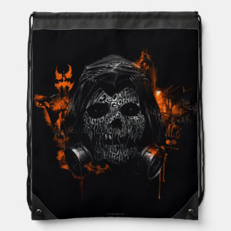 Scarecrow - Welcome To Gotham City Drawstring Bag