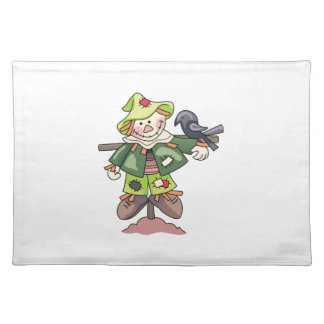 SCARECROW WITH CROW CLOTH PLACE MAT