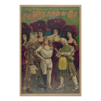 Scarecrow Wizard of OZ Musical VAUDEVILLE Poster