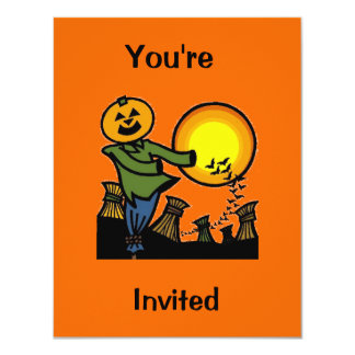 Scarecrow, You're, Invited 4.25x5.5 Paper Invitation Card
