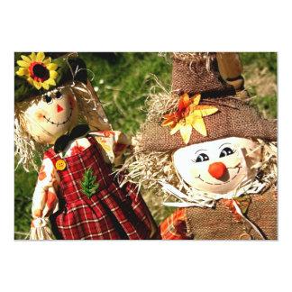 """Scarecrows Doll Invitation 5"""" X 7"""" Invitation Card"""