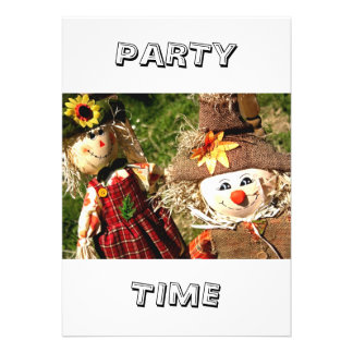 Scarecrows Party Time Invitation Invitations