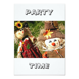 "Scarecrows Party Time Invitation 5"" X 7"" Invitation Card"