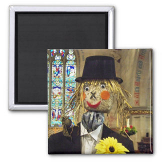 SCARECROWS SQUARE MAGNET