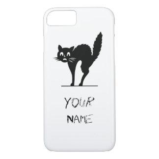 Scared Black Cat iPhone 7 Case