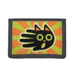 Scared Black Cat Tri-fold Wallet