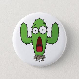 Scared Cactus 6 Cm Round Badge