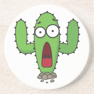 Scared Cactus Coaster