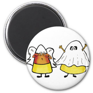 Scared Candy Corn 6 Cm Round Magnet