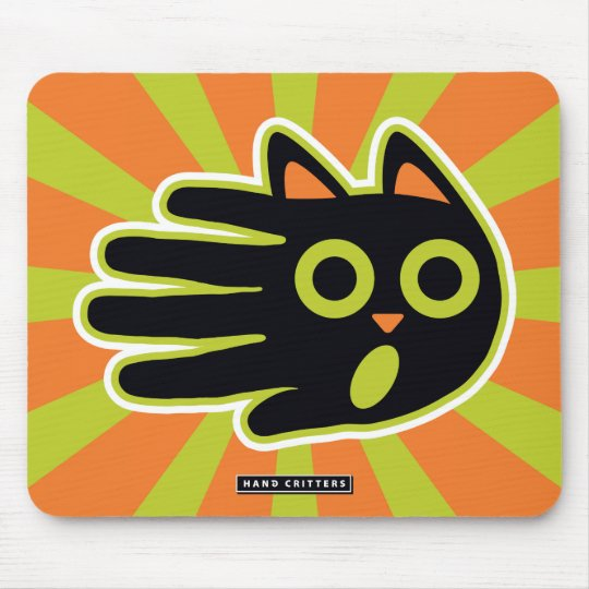 Scared Cat Mouse Mat