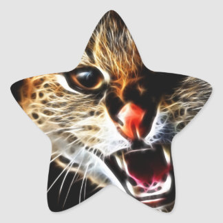 Scared catpainting star sticker