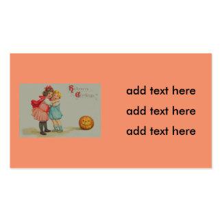 Scared Children Smiling Jack O' Lantern Pumpkin Pack Of Standard Business Cards