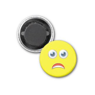 Scared Emoji 3 Cm Round Magnet