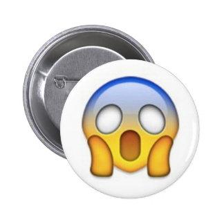 Scared Emoji 6 Cm Round Badge