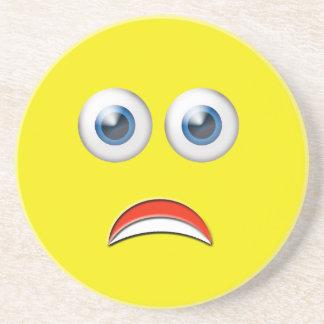 Scared Emoji Coaster
