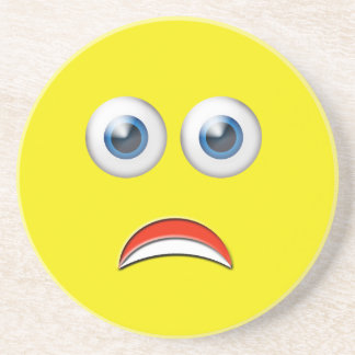 Scared Emoji Drink Coaster