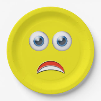 Scared Emoji Paper Plate
