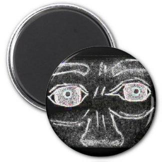 Scared Eyes 6 Cm Round Magnet