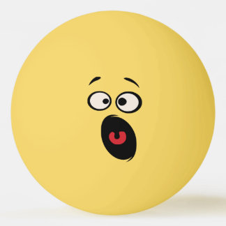 Scared Funny Face Table Tennis Ball