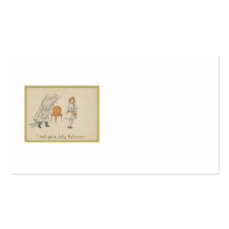 Scared Girl Ghost Costume Jack O Lantern Pack Of Standard Business Cards