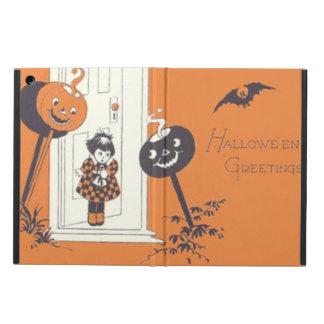Scared Girl Jack O' Lantern Pumpkin Bat Case For iPad Air