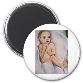 Scared innocence 6 cm round magnet