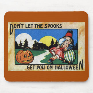 Scared Kids and JOL Vintage Halloween Mouse Pad