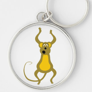 Scared monkey cartoon keychain