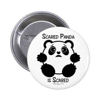 Scared Panda 6 Cm Round Badge