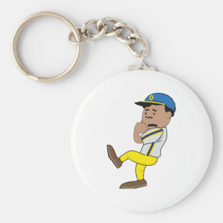 Scared Pitcher Basic Round Button Key Ring