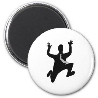 Scared Running Man Fridge Magnets