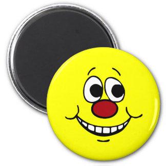 Scared Smiley Face Grumpey 6 Cm Round Magnet
