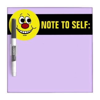 Scared Smiley Face Grumpey Dry Erase Board