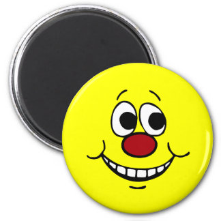 Scared Smiley Face Grumpey Refrigerator Magnet