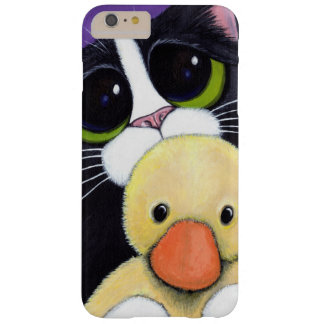 Scared Tuxedo Cat and Cuddly Duck Painting Barely There iPhone 6 Plus Case